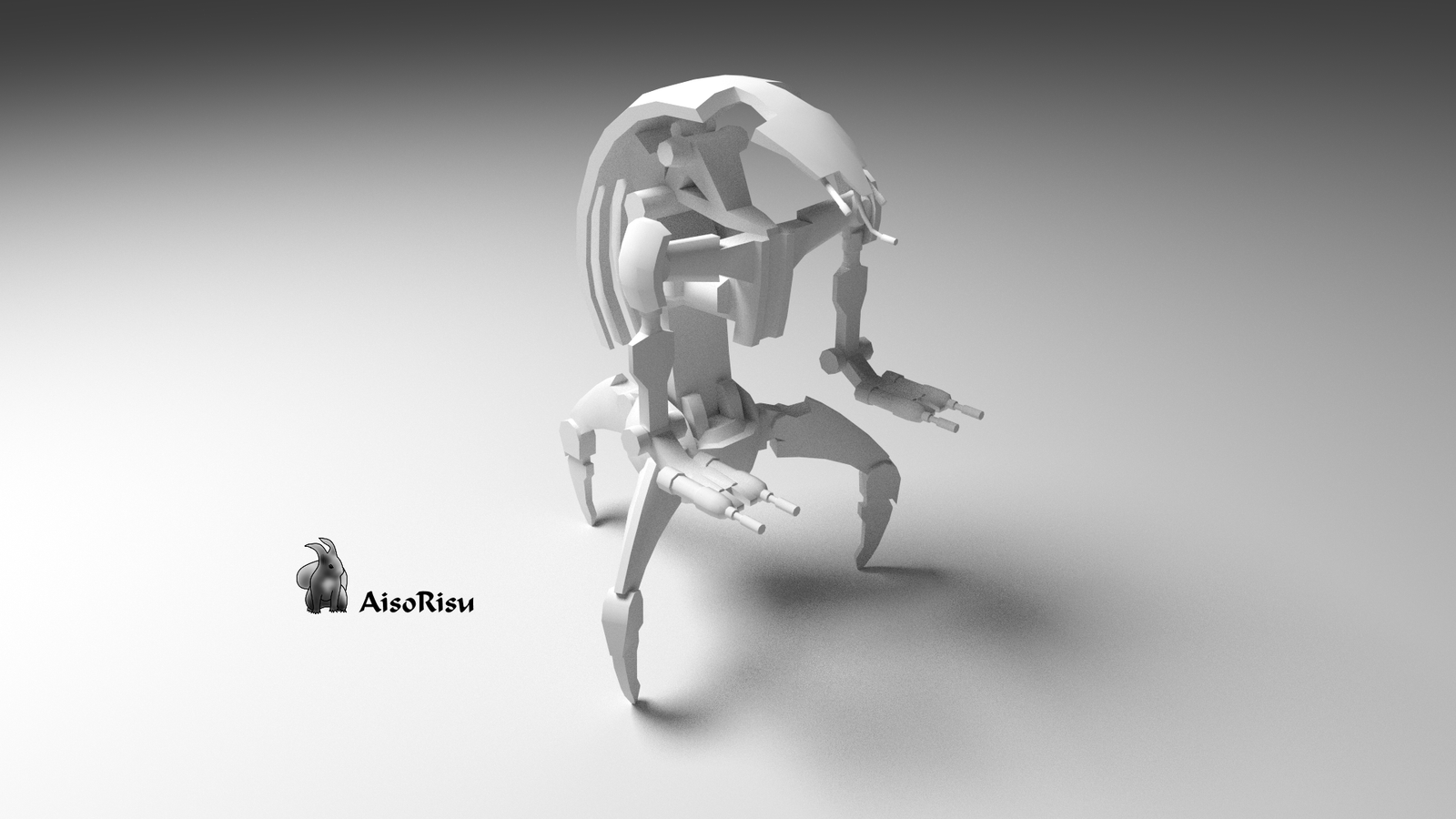 Star wars droideka 3d game model by aisorisu on deviantart for 3d star net