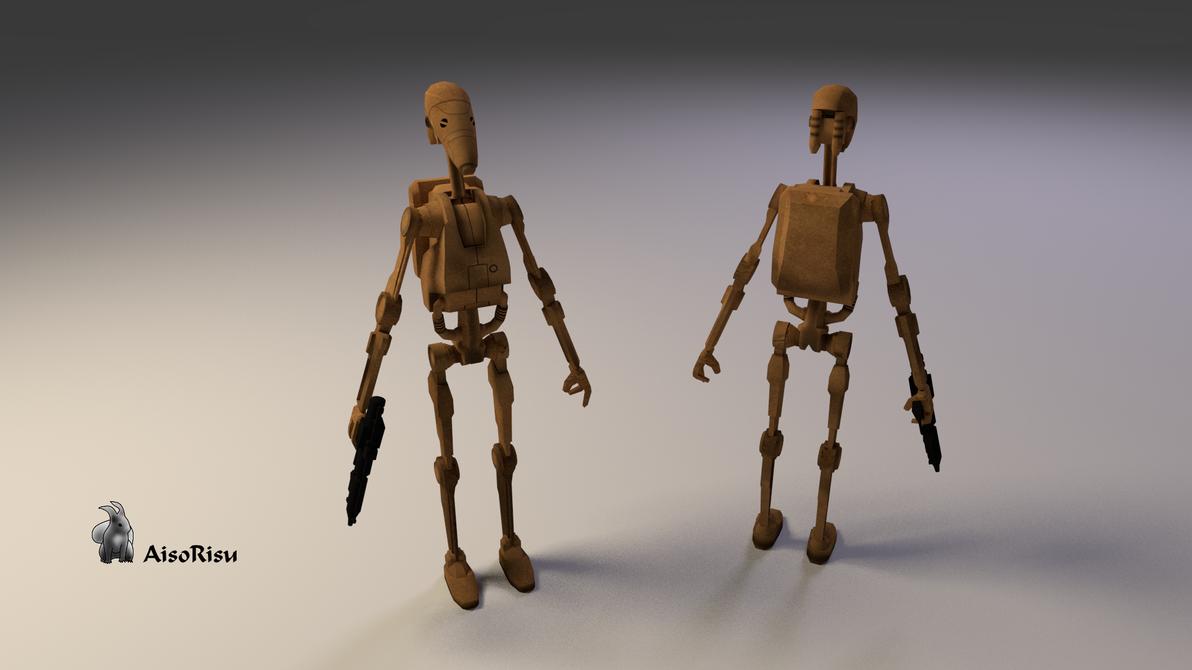 Star wars battle droid 3d game model by aisorisu on deviantart for 3d star net