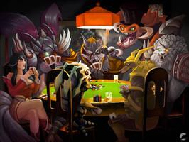 ''Dogs'' playing poker