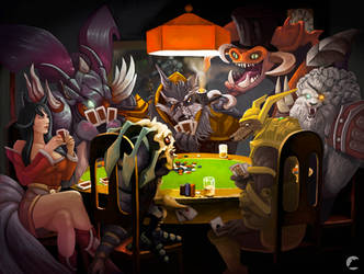 ''Dogs'' playing poker