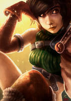 Lets hurry on, Yuffie - Adrian Wolve by AdrianWolve