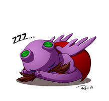 Furry Purple Sleeping Eggman