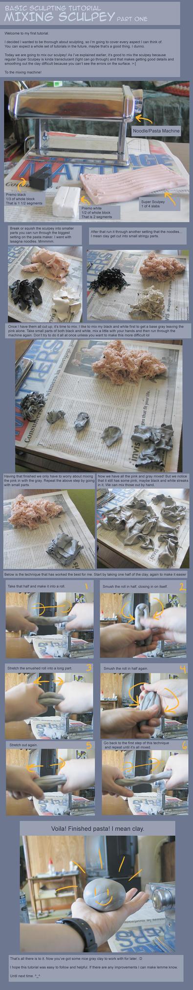 Tutorial 1 - Mixing Sculpey by capnkupo