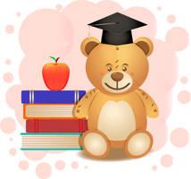 Graduation Teddy Bear by spidermonkeycat