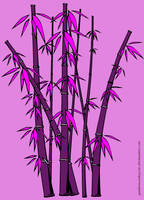 Pink Bamboo by spidermonkeycat