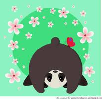 Cute Panda by spidermonkeycat