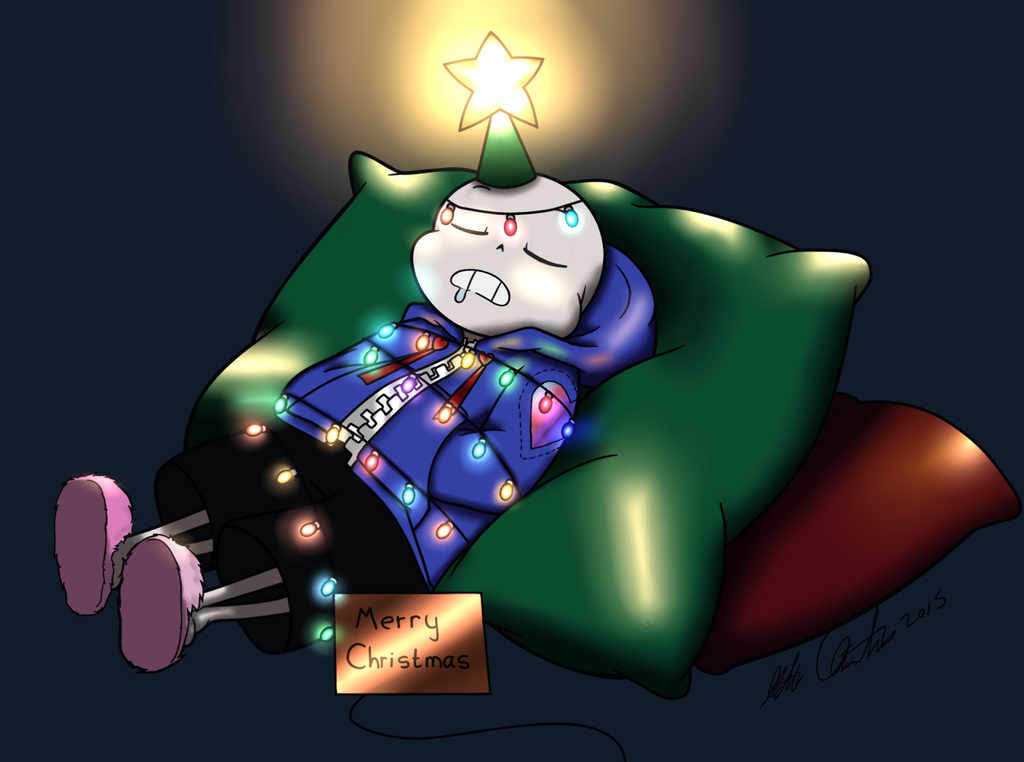 A Festive Snooze By Homunculuslover - colored by Invidia1988