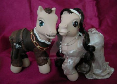 My little Pony Customs King Henry + Anne Boleyn by BerryMouse