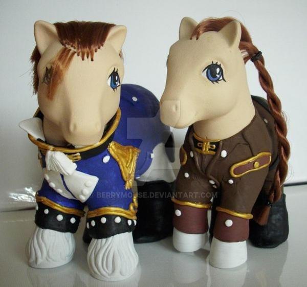 My little Pony Sally + Treize by BerryMouse