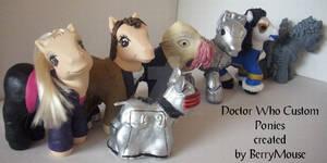 My little Pony Custom Doctor Who Set