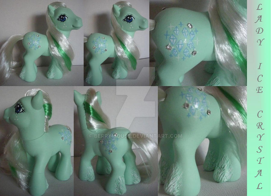 My little Pony Custom G3 Lady Ice Crystal by BerryMouse
