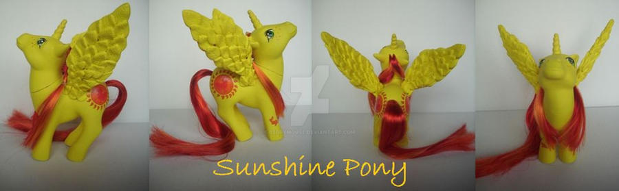 My little Pony Custom  ~ G1 SunshinePony by BerryMouse