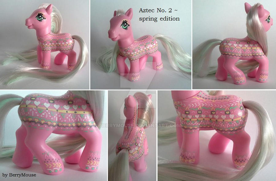 My little Pony Custom ~ Aztec No. 2 by BerryMouse