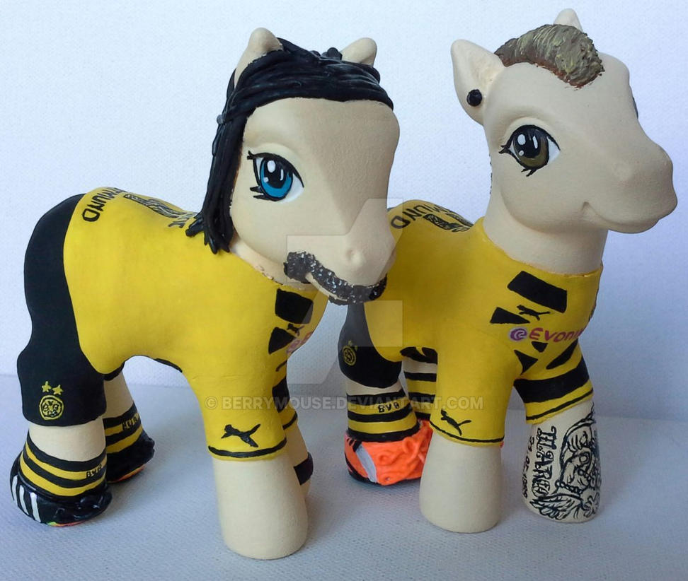 My little Pony Customs Neven Subotic, Marco Reus by BerryMouse