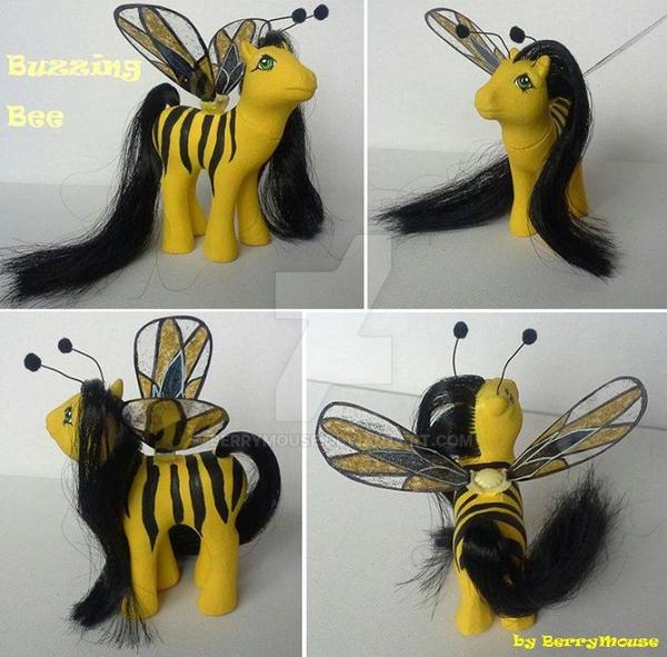 My little Pony Custom G1 Buzzing Bee by BerryMouse