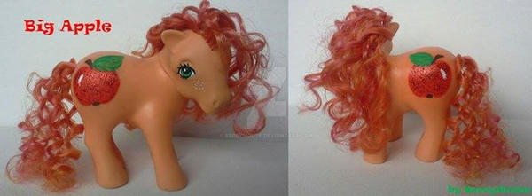 My little Pony Custom G1 Big Apple by BerryMouse