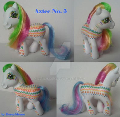 My little Pony Custom Aztec No.5 by BerryMouse