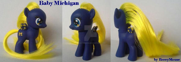 My little Pony Custom Baby Filly Michigan by BerryMouse