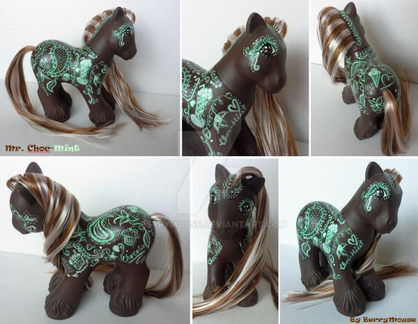 My little Pony Custom Mr. Choc-Mint by BerryMouse