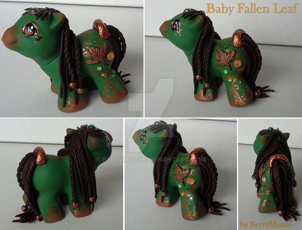 My little Pony Custom Baby Fallen Leaf by BerryMouse