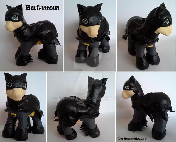 My little Pony Custom Batman by BerryMouse