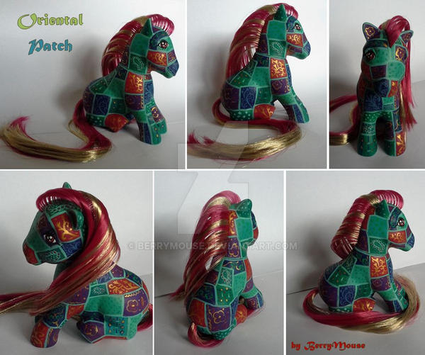 My little Pony Custom G1 sitting Oriental Patch by BerryMouse