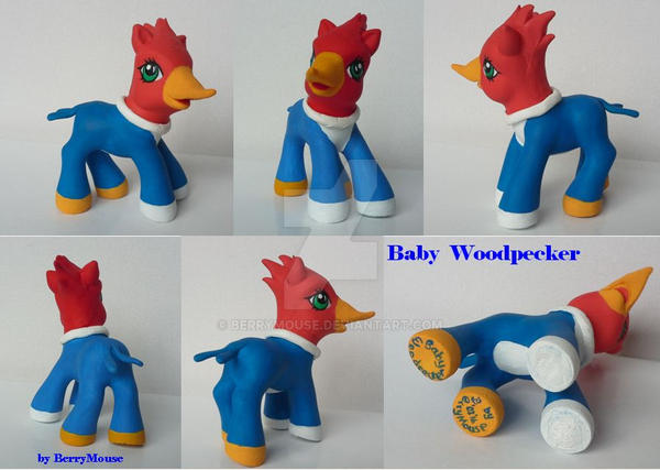 My little Pony G3 Custom Baby Woodpecker by BerryMouse