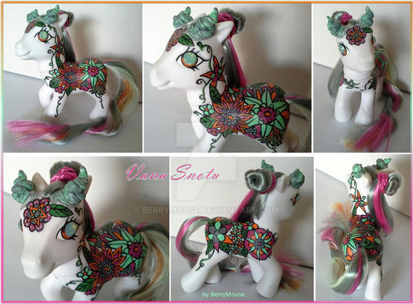 My little Pony Custom G3 Vana Snotu by BerryMouse
