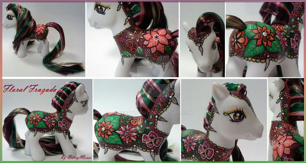 My little Pony Custom G3 Floral Frazada by BerryMouse