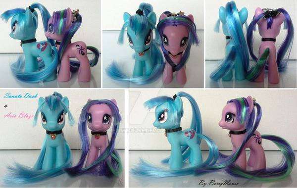 My little Pony Customs G4 Sonata Dusk + Aria Blaze by BerryMouse