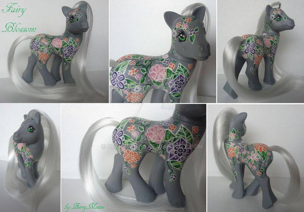 My little Pony Custom G1 Fairy Blossom by BerryMouse