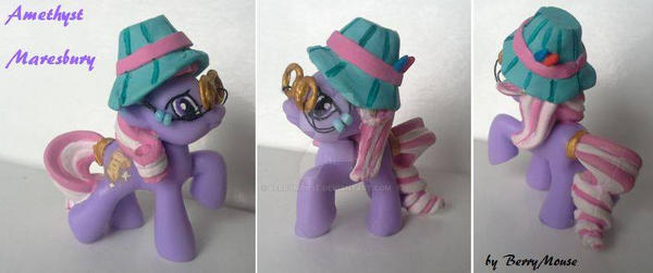 My little Pony Blind Bag Custom Amethyst Maresbury by BerryMouse