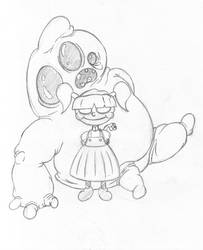 Girl And Blob Pencil by otakusenpai