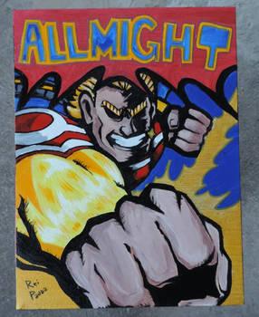 Pintura em Tela - ALLMIGHT - Boku no Hero Academia