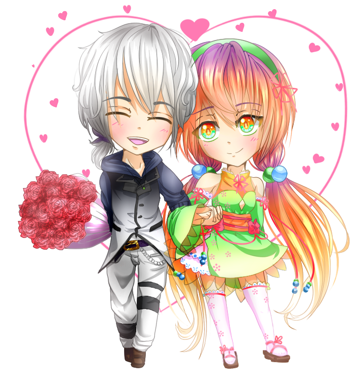 Perci and Pastelle Valentine! by Gamercenary
