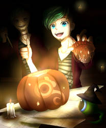 Pumpkin Carving with Sam? by Gamercenary