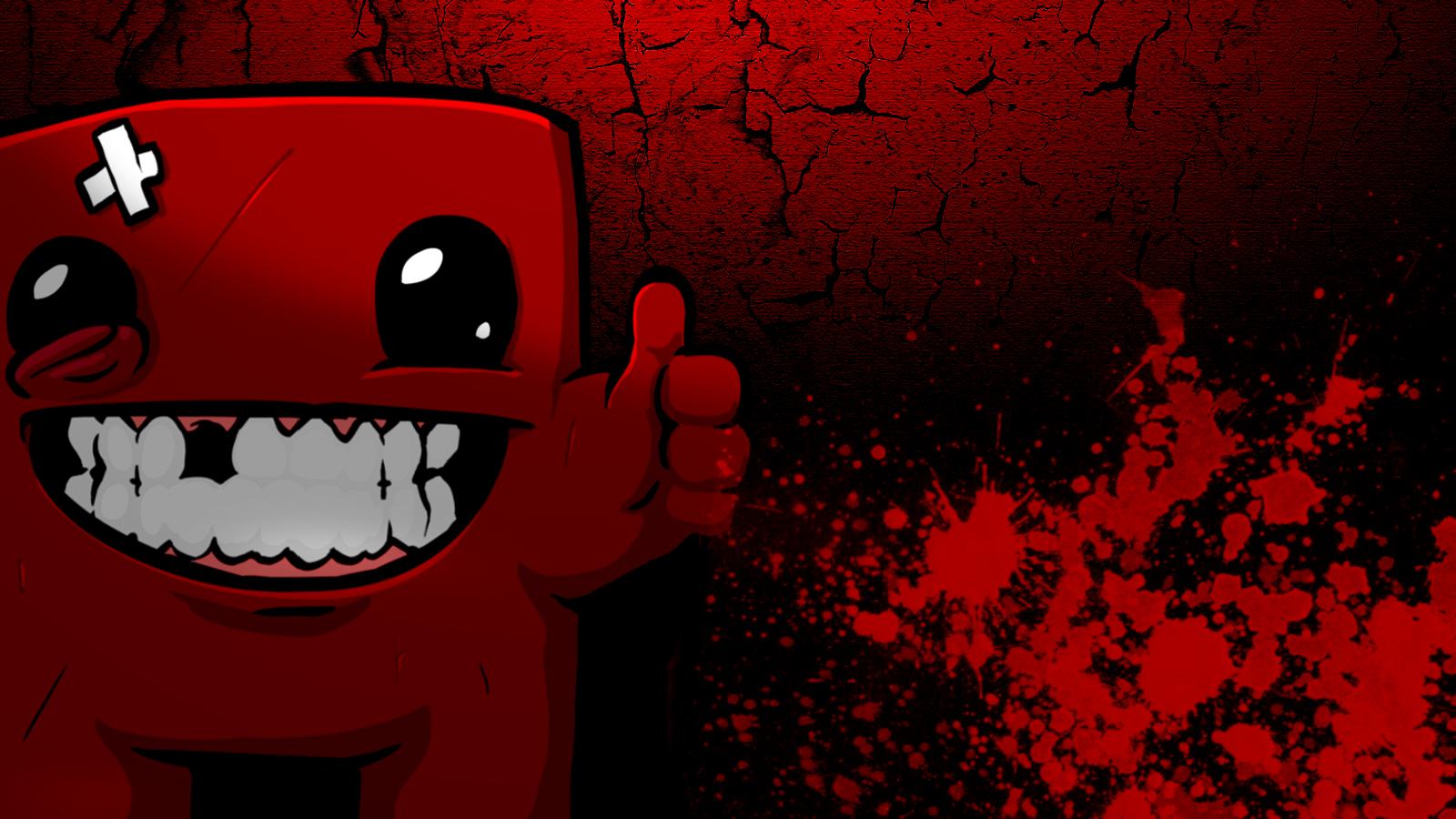 Super Meat Boy Wallpaper Bloody Meat By Stramboz On Deviantart