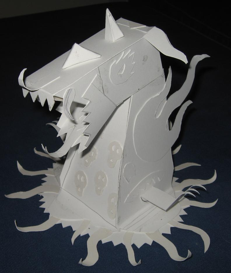 Papercraft Monster Left Side by JasonYoungdale