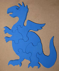 Wooden Baby Dragon Puzzle