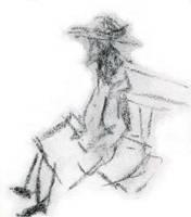 Man on Bench by JasonYoungdale