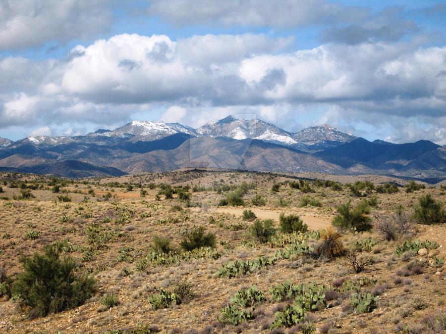Snowy AZ mountains II by JasonYoungdale
