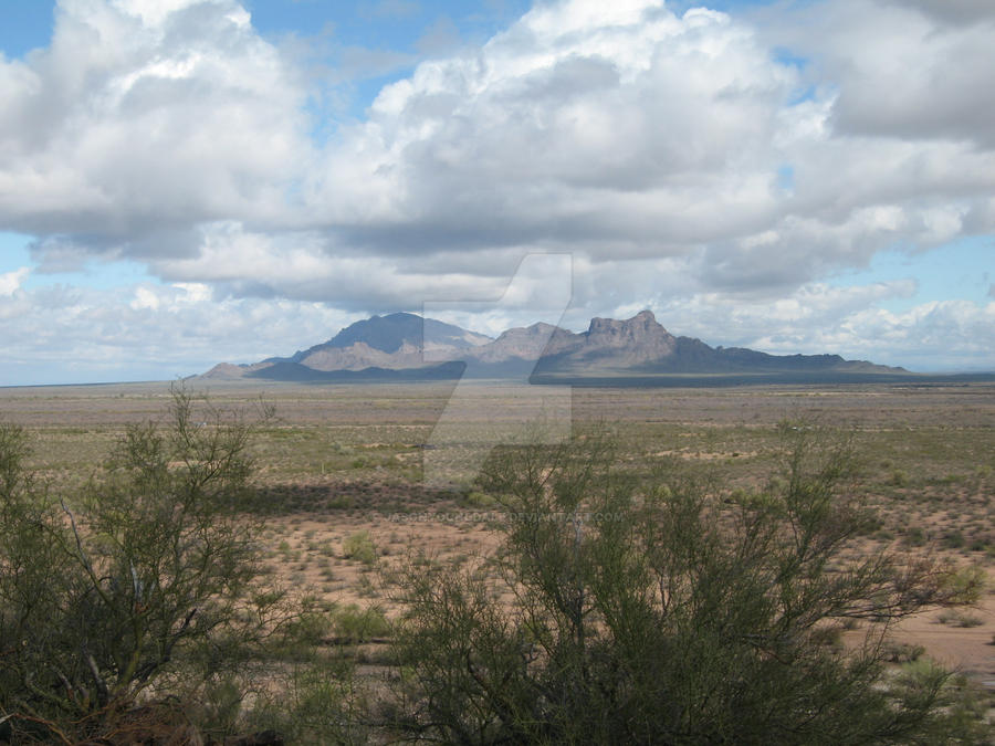 Mountains in the AZ desert by JasonYoungdale