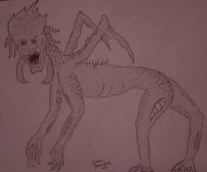 Alien Concept Sketch by JasonYoungdale