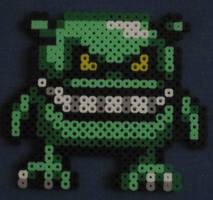 Goblin fuse bead art by JasonYoungdale
