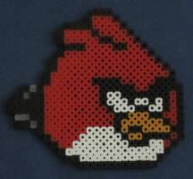 Angry Bird fuse bead art by JasonYoungdale