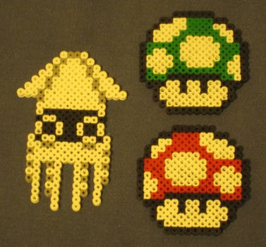 Super Mario Brothers fuse bead art