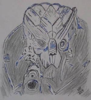 Mass Effect quick sketch (light/dark exercise)