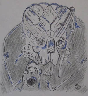 Mass Effect quick sketch (light/dark exercise)
