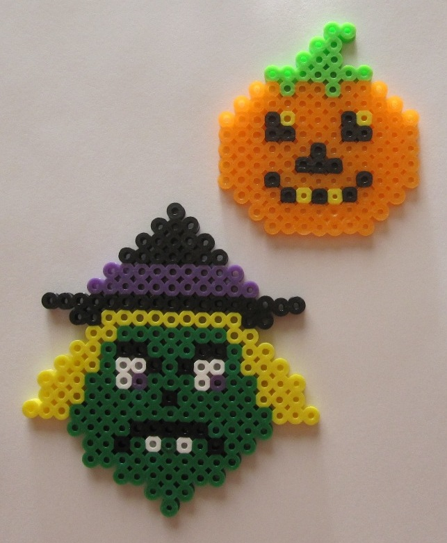 Witch and Pumpkin fuse bead art by JasonYoungdale