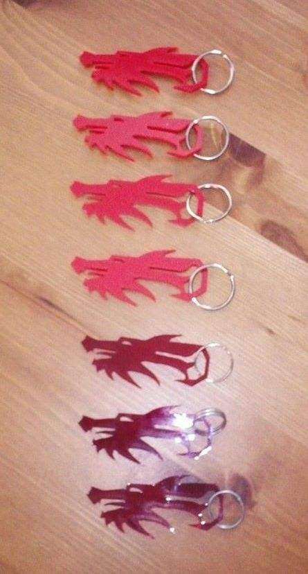 Dragon Key Chains by JasonYoungdale